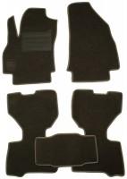 Коврики в салон для Fiat Doblo '10- текстильные, серые (Люкс)