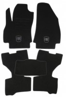 Коврики в салон для Fiat Fiorino Qubo '08- текстильные, черные (Люкс)