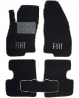 Коврики в салон для Fiat Grande Punto / Punto '05- текстильные, серые (Люкс)