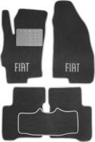 Коврики в салон для Fiat Linea '07-15 текстильные, серые (Люкс)