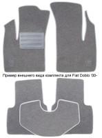 Коврики в салон для Fiat Panda '03-12 текстильные, серые (Люкс)