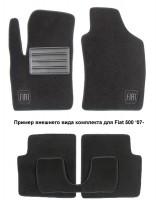 Коврики в салон для Fiat Panda '03-12 текстильные, черные (Люкс)
