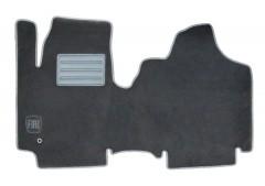 Коврики в салон для Fiat Scudo '00-06 текстильные, серые (Люкс)
