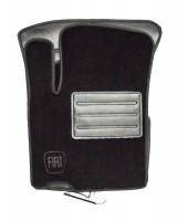 Коврики в салон для Fiat Sedici '06- текстильные, черные (Люкс)