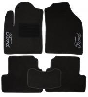 Коврики в салон для Ford Connect '02-13 текстильные, черные (Люкс)