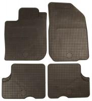 Коврики в салон для Renault Duster '10- резиновые, черные (Doma) 4/2 WD