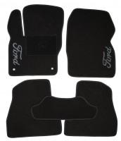 Коврики в салон для Ford Focus III '11- текстильные, черные (Люкс)