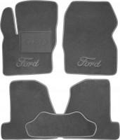 Коврики в салон для Ford Focus III '11- текстильные, серые (Люкс)