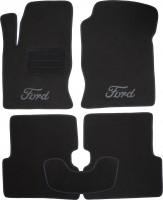 Коврики в салон для Ford Focus I '99-04 текстильные, черные (Люкс)