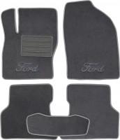 Коврики в салон для Ford Focus II '04-11 текстильные, серые (Люкс)