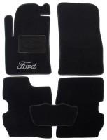 Коврики в салон для Ford Fusion '02-12 текстильные, черные (Люкс)