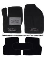 Коврики в салон для Ford Galaxy '06-12 текстильные, черные (Люкс)