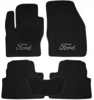 Коврики в салон для Ford Kuga '08-13 текстильные, черные (Люкс)