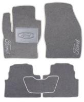 Коврики в салон для Ford Kuga '08-13 текстильные, серые (Люкс)
