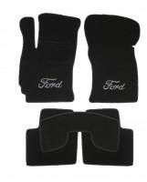 Коврики в салон для Ford Mondeo '01-07 текстильные, черные (Люкс)
