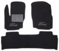Коврики в салон для Ford S-Max '06-15 текстильные, серые (Люкс)