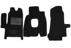Коврики в салон для Ford Transit '00-06 текстильные, черные (Люкс)