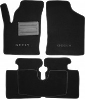 Коврики в салон для Geely CK '06- текстильные, черные (Люкс)