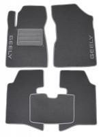 Коврики в салон для Geely MK Sedan '06-14 текстильные, серые (Люкс)