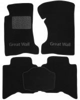 Коврики в салон для Great Wall Hover / H3 '05- текстильные, черные (Люкс)