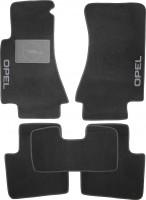Коврики в салон для Opel Omega B '94-03 текстильные, черные (Люкс) без лентяйки