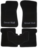 Коврики в салон для Great Wall Safe '05- текстильные, черные (Люкс)