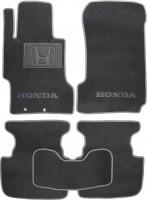 Коврики в салон для Honda Accord 7 '03-08 текстильные, серые (Люкс)