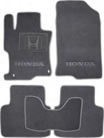 Коврики в салон для Honda Accord 8 '08- USA текстильные, серые (Люкс)
