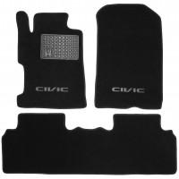 Коврики в салон для Honda Civic 4D '06-12 текстильные, черные (Люкс)