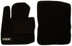 Фото 2 - Коврики в салон для Honda Civic 5D '06-12 текстильные, черные (Люкс)