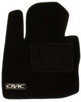 Фото 3 - Коврики в салон для Honda Civic 5D '06-12 текстильные, черные (Люкс)