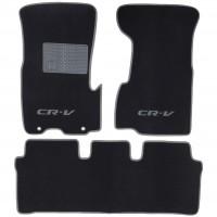 Коврики в салон для Honda CR-V '02-06 текстильные, серые (Люкс) АКПП, с раздельным передним рядом