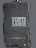 Коврики в салон для Honda CR-V '02-06 текстильные, черные (Люкс) МКПП