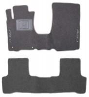 Коврики в салон для Honda CR-V '06-12 текстильные, серые (Люкс)