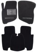 Коврики в салон для Honda Jazz '03-08 текстильные, черные (Люкс)