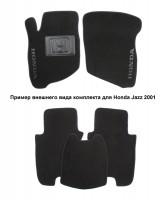 Коврики в салон для Honda Pilot 08- текстильные, черные (Люкс)