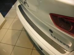 Накладка на бампер для Mitsubishi Lancer X (10) '07- (Premium)