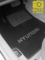Фото 5 - Коврики в салон для Hyundai Accent '06-10 текстильные, черные (Люкс)