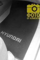 Фото 6 - Коврики в салон для Hyundai Accent '06-10 текстильные, черные (Люкс)