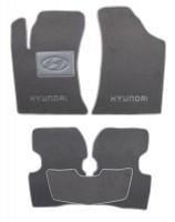 Коврики в салон для Hyundai Elantra HD '06-10 текстильные, серые (Люкс)