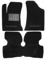 Коврики в салон для Hyundai Elantra HD '06-10 текстильные, черные (Люкс)