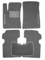 Коврики в салон для Hyundai Grandeur '05-11 текстильные, серые (Люкс)