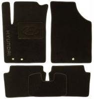 Коврики в салон для Hyundai i-10 '07-13 текстильные, черные (Люкс)