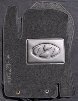 Коврики в салон для Hyundai i-20 '08- текстильные, черные (Люкс)