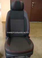 Авточехлы Premium для салона Suzuki SX4 '13-, красная строчка (MW Brothers)