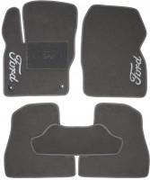 Коврики в салон для Ford Focus III '11- текстильные, серые (Люкс) 2 клипсы