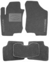 Коврики в салон для Hyundai i30 FD '07-12 текстильные, серые (Люкс)