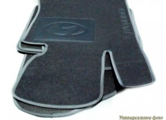 Коврики в салон для Hyundai ix-20 '11- текстильные, серые (Люкс)