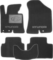 Коврики в салон для Hyundai ix-35 '10-15 текстильные, черные (Люкс)
