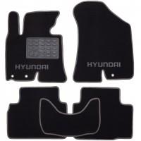 Коврики в салон для Hyundai ix-35 '10-15 текстильные, серые (Люкс)